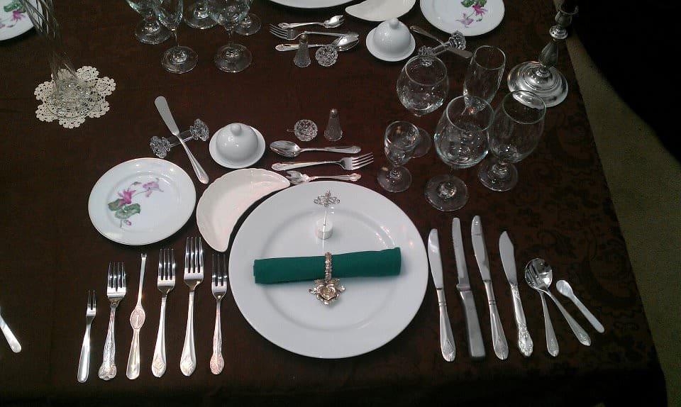 The formal eating arrangements